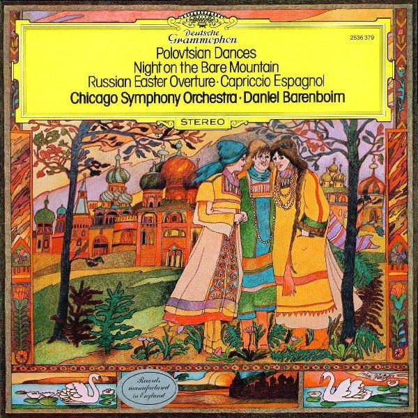 Am image of Daniel Barenboim - Borodin: Polovtsian Dances & Mussorgsky: A Night On The Bare Mountain & Rimsky-Korsakov: Russian Easter Overture (180 LP) 1