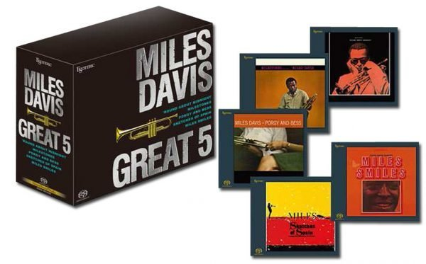 Am image of Miles Davis - Great 5 / Hybrid Stereo Japanese Import 5 SACD Box Set (Stereo & Mono) 1
